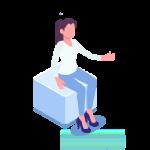 Isometric Woman Sitting